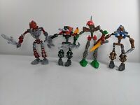 Lot of 4 Lego Bionicle Figures Collectible different characters build