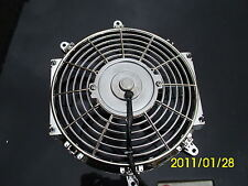 10 INCH LOW PROFILE CHROME HIGH PERFORMANCE THERMO FAN