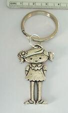 Pewter 41x25mm Girl Daughter Granddaughter Female Child Keychain 27mm Keyring