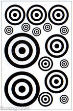 Black Circles Dot Wall Decals Art Transfer Stickers Appliques Mural Graphic