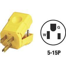 50 Pk Leviton 15A 125V 3-Wire 2-Pole 5-15P Python Electric Cord Plug 081-5256VY