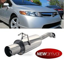 Fit: 06-10 Civic 2DR 4DR Stainless Steel Bolt On Axle back Exhaust Muffler