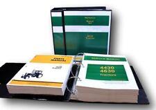 Service Manual Set For John Deere 4630 Tractor Repair Parts Catalog Shop 1645pg