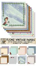 """Paper 24sh 6""""x6""""# Christmas Winter Cards Template # Flonz 052 Craft Scrapbooking"""