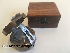 """Brunton Pocket Transit Compass Brass Antique Vintage Nautical 2.5"""" Steampunk"""