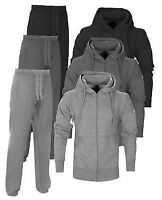 NEW Boys kids Jogging suit Tracksuit Hooded Bottoms Jacket Top Age 1 - 16 Year