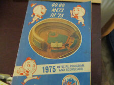 1975 NY Mets Official Program and Scorecard - Mets vs. Astros @ Shea Stadium