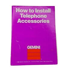 1983 Gemini Industries How to Install Telephone Accessories Manual JJ