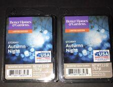 2  BETTER HOMES & GARDENS Wax Melts STORMY AUTUMN NIGHT 2.5 Oz Each
