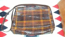 CEM Woven Leather Messenger/Computer Bag Made in Brazil