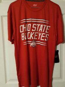 Ohio State Buckeyes Shirt Men's Large 4th AND 1 NCAA Red NEW