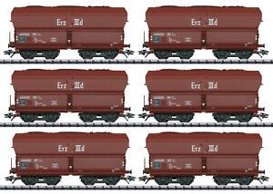 Trix 24150 Spur H0 Selbstentladewagen-Set Erz IIId der DB 6-teilig #NEU in OVP#