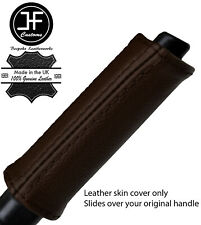 BROWN REAL LEATHER HANDBRAKE HANDLE COVER FOR NISSAN 300ZX Z32 1989-1996