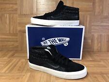RARE🔥 VANS OG Sk8-Mid LX Italian Woven Black Suede Weave Sz 13 Men's Shoes LE