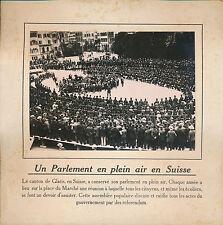 PHOTO PRESSE c. 1910 - Parlement en Plein Air Canton de Glaris Suisse  - 177