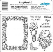 CREATIVE EXPRESSIONS Stamps POSY FLORALS 3 You colour my World Fantastic Sweet