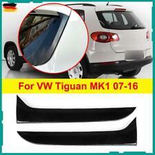 2x Heckscheibe Spoiler Canard Splitter Trim Für VW Tiguan MK1 07-16 Glanzschwarz