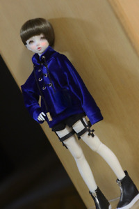 1/4 1/3 UncleSSDF ID72 BJD Outfit Doll Clothes Sapphire Blue Velvet Sweater Top