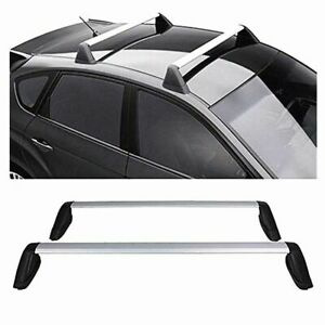 For 08-11 Subaru Impreza/08-14 WRX STI Fixed Silver Roof Rack Cross Bar Set Pair