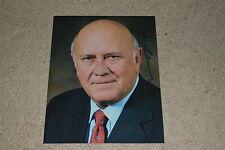 FREDERIK WILLEM DE KLERK signed autograph In Person 8x10 20 x25 cm SOUTH AFRICA
