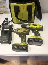 ryobi 18v lithium drill  and impact set