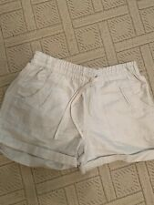 Country road ladies White Cotton / Linen Shorts  (xs)
