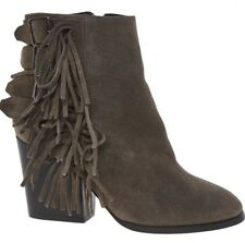 * Vente! * BNWB THE KOOPLES beige frange Bottines à talon. UK 3/36 (convient 3.5) £ 275