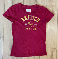 Abercrombie & Fitch Women's T Shirt Red Small Short Sleeve 100% Cotton