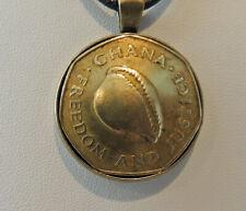 Custom necklace from Ghana one cedi coin
