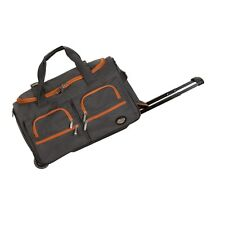 "Rockland PRD322CHARCOAL 22"" Rolling Duffle Bag - Charcoal NEW"