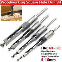 Mortising Chisel Drill Bits Square Hole Saw Auger Mortice Woodworking Tools UK
