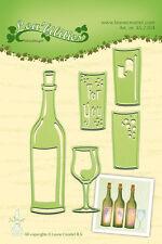 Lea 'perfor découpe et gaufrage die bouteille de vin et verre 45.2304 leane _