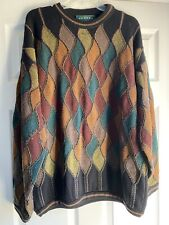 Vtg Tundra Canada Coogi Style Mercerized Cotton Sweater Sz L Cosby