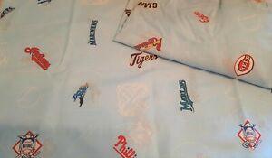 MLB Baseball Teams Sheet Set Flat & Fitted Sheets Boys Kids Full Bed Bedding
