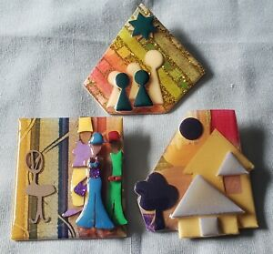 Lucinda Pins, 1 Glitter People 1 Woman 1 House Lot of 3 Nice!