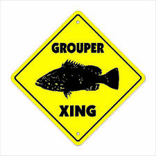 Grouper Crossing Decal Zone Xing florida offshore fishing fisherman lures