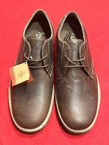 Munsingwear Penguin Brown Leather Mens Shoes NWT Waylon US 10 UK 9 EU 43