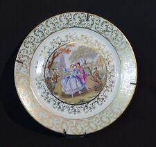 E très belle assiette ancienne romantique porcelaine Limoges Berry Mehun  24cm