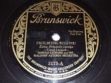 "HAROLD LEONARD I'm Flirting With You / Lonesome & Sorry 10"" 78rpm Brunswick 3173"