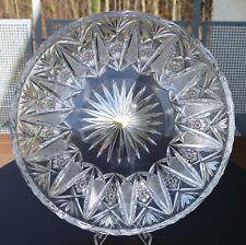 Ältere Nachtmann Bleikristall Platte rund Original Kunst Handarbeit 1,76 kg !!!