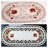 Oval Placemat Vintage Embroidered Peony Doily Table Cloth Wedding Paty Home Deco