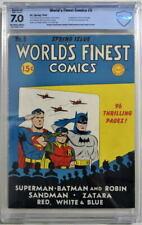 WORLD'S FINEST COMICS #5 CBCS 7.0 Superman Batman 1942 CGC 1st Dan The Dyna-Mite