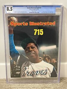 Hank Aaron 715 Sports Illustrated CGC 8.5 iconic issue FREE SHIPPING!!