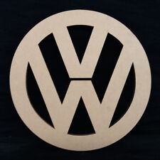VW Camper - Logo - Badge - 30cm in Diameter - 12mm MDF For Greater definition