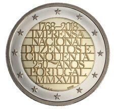 manueduc  PORTUGAL  2018  2 EUROS 250 Años IMPRENTA NACIONAL  NUEVO