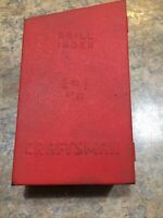 "VINTAGE CRAFTSMAN DRILL INDEX 1/16"" - 1/2"" BY 1/64"" - RED METAL 3 TIER BOX BITS"