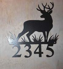 Elk Deer Metal Address Sign 1, 2 3 or 4 number signs with mounting screws