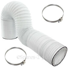 """10m Extra Long Vent Hose 4"""" PVC Strong Jubilee Clips for INDESIT Tumble Dryer"""