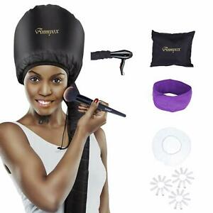 Soft Bonnet Hair Dryer Portable Hooded Conair Styling Cap Hood Vent Black NEW