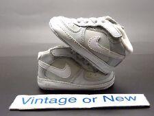 Nike Air Force 1 Mid '07 Neutral Grey White TD Crib Infant 2008 sz 2C